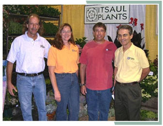 Robert Saul, Karen Stever, Richard Saul and Ozzie Johnson bring new and exciting plants to the market.