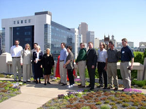 Atlanta's $60,000 green roof project was sponsored by the city's Department of Watershed Management as a tool for improving air quality and for reducing stormwater runoff. Saul Nurseries and ItSaul Natural provided plants and soil for the 3,000-square-foot roofscape.